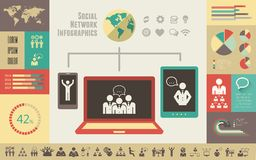 Social Media Infographic Template. Stock Photos
