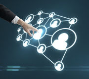 Social media interface Royalty Free Stock Photo