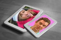 Social media internet chat Stock Photo
