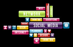 Social media internet cloud Royalty Free Stock Image