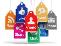 Social media internet communication concept. Signs of apps Stock Photo