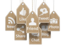 Social media internet communication concept. Signs of apps on th Stock Photography