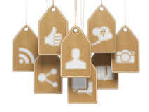Social media internet communication concept. Signs of apps on th Royalty Free Stock Photography