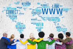Social Media Internet Connection Global Communications Networking Concept.  stock images