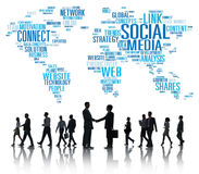 Social Media Internet Connection Global Communications Networkin Royalty Free Stock Photo