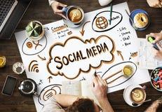 Social Media Internet Network Technology Concept royalty free stock photos