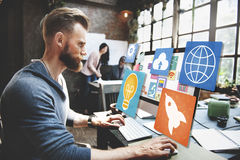 Social Media-Internet WWW-Netz-on-line-Konzept des Sozialen Netzes Stockfotografie