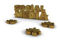 Social Media with jigsaw pieces Stock Photo
