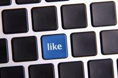 Social Media Key Stock Image