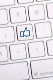 Social Media Key Royalty Free Stock Image