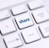 Social Media Key Stock Photo