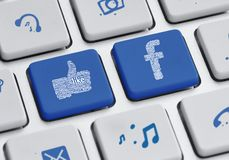 Social media keyboard Stock Photos