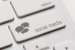 Social Media keyboard Royalty Free Stock Image