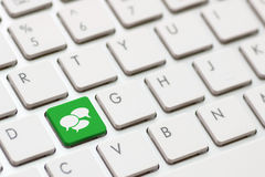 Social Media keyboard Royalty Free Stock Photography