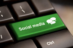 Social Media keyboard Royalty Free Stock Photo
