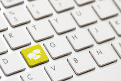 Social Media keyboard Stock Photo