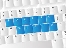 Social Media Keyboard Concept Stock Image