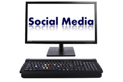 Social Media keyboard Royalty Free Stock Photos