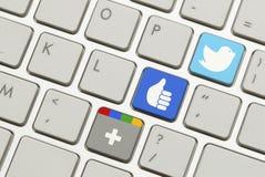 Social Media Keyboard Stock Photography