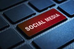 Social media keyword on keyboard. Social media keyword concept on computer keyboard technology background macro shot stock illustration