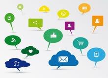 Social Media-Konzeptdesign vektor abbildung