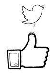 Social Media-Kriege stock abbildung