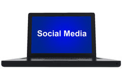 Social media on laptop Stock Images