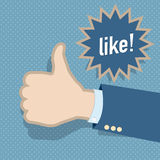 Social media like hand. Abstract design Royalty Free Stock Photos