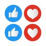 Social media like icon on white background stock illustration