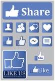 Social Media Like Icons royalty free illustration