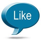 Social Media Like. Like word three dimensional speech bubble royalty free stock photos