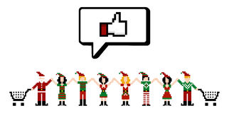 Social Media we like Xmas sale Royalty Free Stock Images
