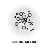 Social Media Line Icon Stock Photography