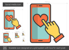 Social media line icon. Stock Photography
