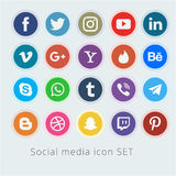 Social media logo collection vector royalty free illustration