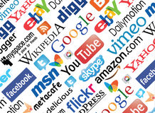 Social Media logos. Royalty Free Stock Image