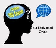 Social Media Loneliness Stock Image