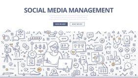 Free Social Media Management Doodle Concept Stock Photo - 145232170