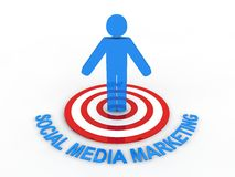 Social Media Marketing. Social Network Concept in 3D Royalty Free Stock Photography