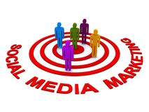 Social media marketing Stock Images