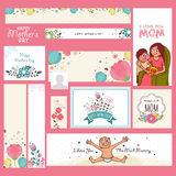 Social media and marketing banners for Mothers Day. Social media and marketing header, banner or cards for Happy Mothers Day celebration royalty free illustration