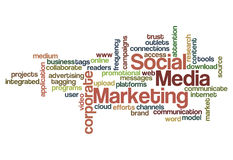Social media marketing concept background Royalty Free Stock Photos