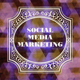 Social Media Marketing Concept. Vintage design. Royalty Free Stock Photography