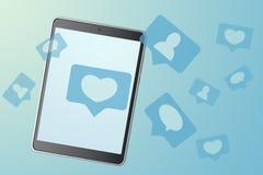 Social media marketing. 3d rendering stock photos