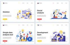 Free Social Media Marketing, Data Analysis Technology Vector Illustrations With Flat Cartoon Modern Analyzing Development Royalty Free Stock Photography - 189649527