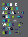 Social Media Marketing icons. Composition Royalty Free Stock Images