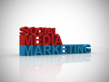 Social media marketing illustration Royalty Free Stock Photos