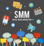 Social Media Marketing Online Business Concept Royalty Free Stock Photo
