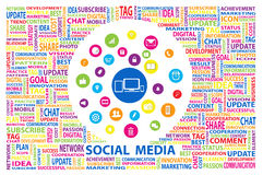 Social Media for marketing online concept. Creative design by icon and letter jigsaw of social media for marketing online concept Royalty Free Stock Images