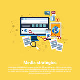 Social Media Marketing Strategy Business Web Banner Royalty Free Stock Photo